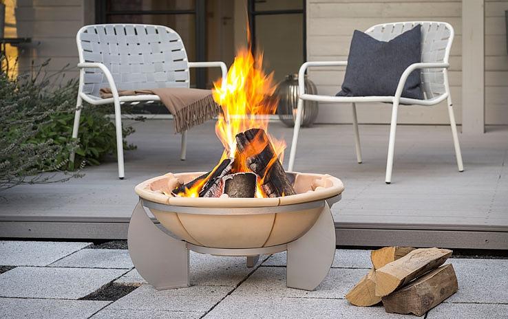 hochwertige feuerschalen der fa denk keramik bei. Black Bedroom Furniture Sets. Home Design Ideas